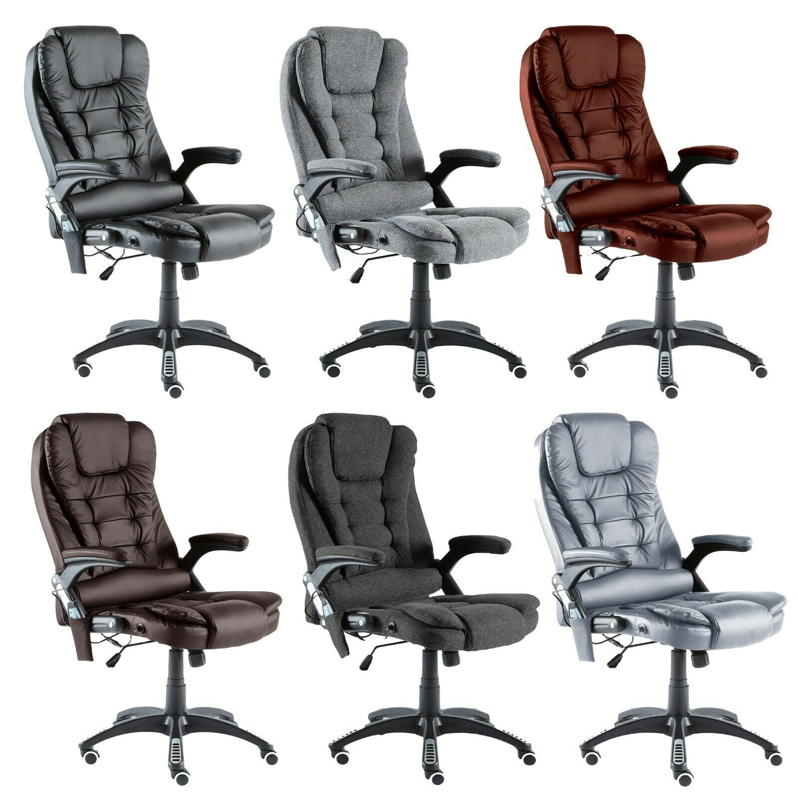 Computer Games - Neo Executive Gaming Computer Desk Office Swivel Recliner Massage Chair