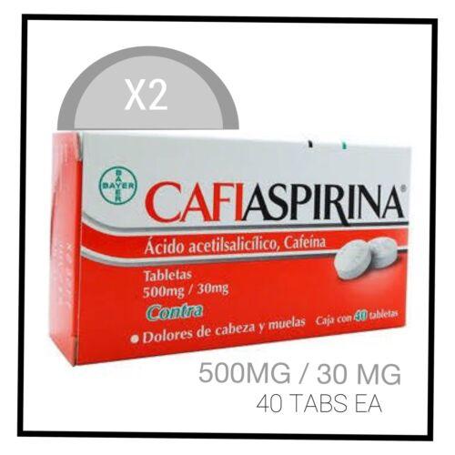 X2 CAFIASPIRINA -alivio dolor de cuerpo y cabeza/body & headache relief- 40tabs