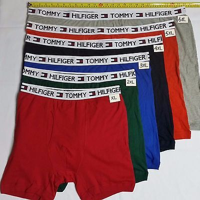 One Mens TOMMY HILFIGER COTTON boxers Brief  Big and Tall 2XL- 10XL PLUS ()