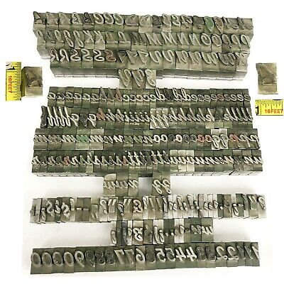 Kingsley Kwikprint Stamping Machine Type Letter Set