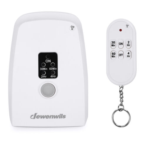 DEWENWILS Wireless Remote Control Electrical Outlet Countdown Timer 100ft Range
