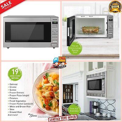Panasonic 1250W Microwave Oven Cooking Frozen Vegetables/Pizza/Pasta 2.2 Cu. Ft