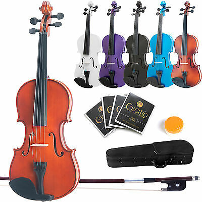 "MENDINI STUDENT VIOLA 16"" 15"" 14"" 13"" 12"" ~Natural Wood Black Blue Purple White"