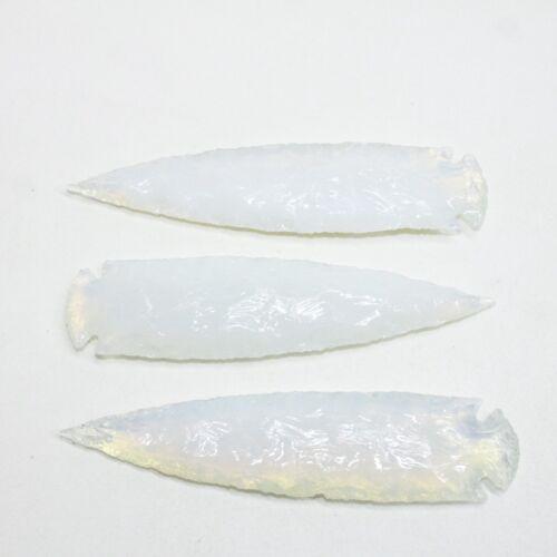 3 Opalite Ornamental Spearheads  #4010  Arrowhead