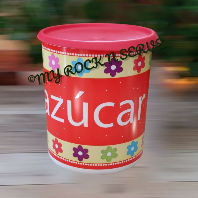 Tupperware Azucar One Touch Blossom Seal  Canister 12 Cup New