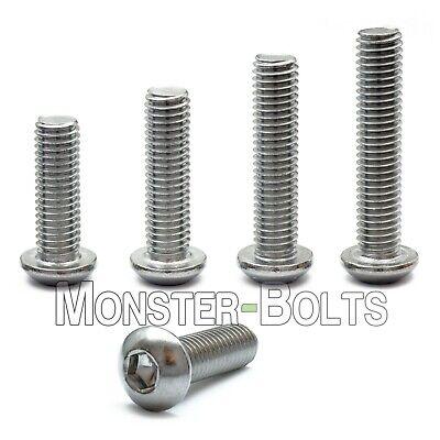 10-32 - Stainless Steel Button Head Socket Cap Screws Sae Fine Thread 18-8 A2