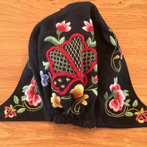 NEW NORWEGIAN BUNAD BLACK GUDBRANDSDALEN KYSE HAT FROM NORWAY