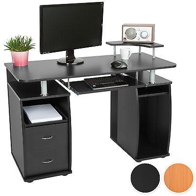 Scrivania porta PC computer tavolo ufficio tastiera scorrevole cassetti