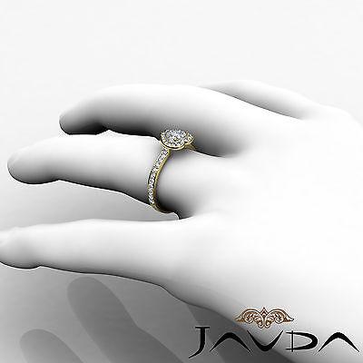 Halo Pave Set Heart Diamond Engagement Wedding Ring GIA H VS2 Yellow Gold 0.95Ct 5
