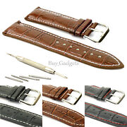 Brown Leather Watch Strap 20mm