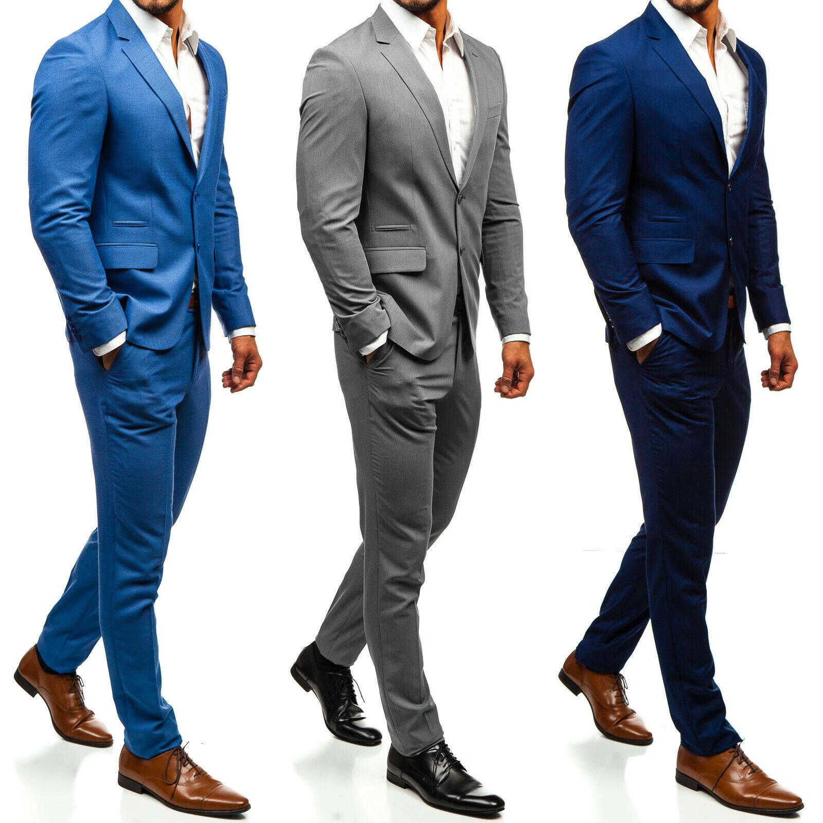 Anzug Sakko Jacke Blazer Klassisch Slim Fit Casual Herren Mix BOLF 1J2 Classic