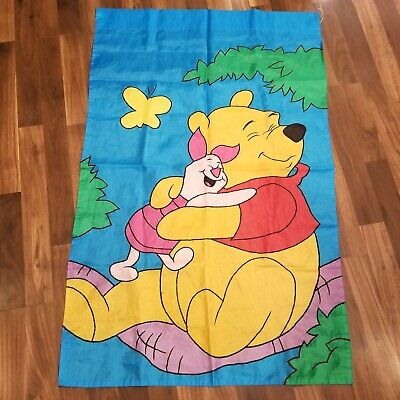 Disney WINNIE THE POOH PIGLET Applique Large House Garden Yard Flag double sided