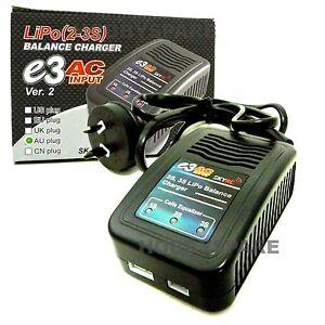 NEW SkyRC e3 1.5 Amp Ver. 2 AC LIPO BATTERY BALANCE CHARGER 7.4v 11.1v RC CAR
