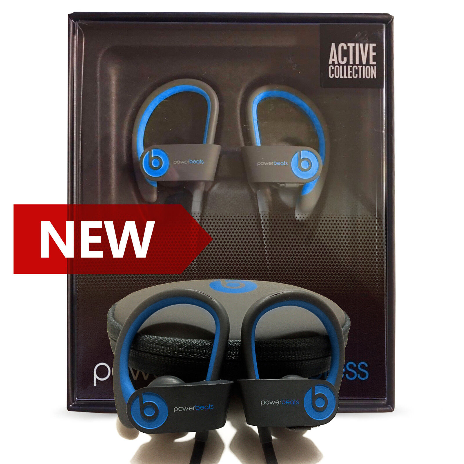 Beats By Dre - Beats Powerbeats 2 Wireless by Dr. Dre Bluetooth Sport Headphones FLASH BLUE NEW