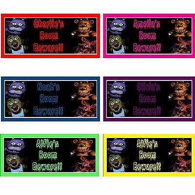 fnaf 5 Five Nights at Freddys personalised handmade plaque sign christmas gift