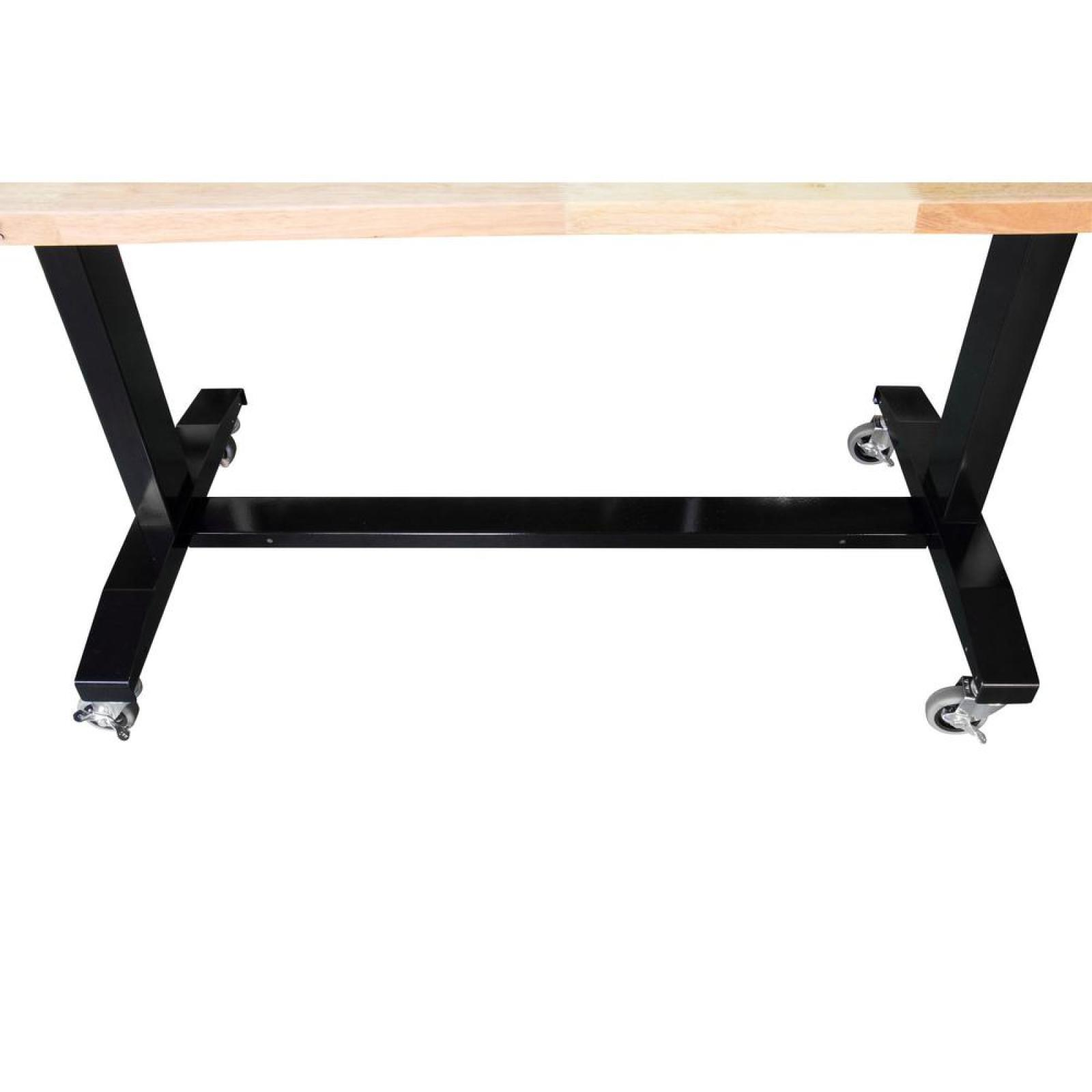 Husky 46in Adjustable Height Work Table Mechanics Workbench Home Garage  Tables