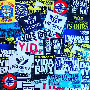 100 x Tottenham Ultra Style Stickers inspired by Yid Army Spurs Programme THFC