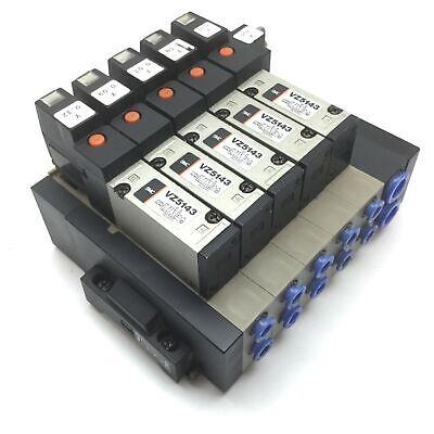 Lot Of 5 Smc Vz5143 Solenoid Valve 2-position 5-port Voltage 24vdc 10mm 8mm