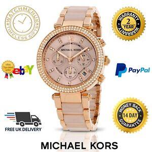 b9ca12d7d96f  NEW  MICHAEL KORS MK5896 LADIES  PARKER ROSE GOLD WATCH - 2 YEAR WARRANTY