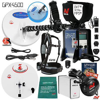 Minelab Gpx 4500 Metal Detector For Relic And Gold Prospecting W 2 Search Coils