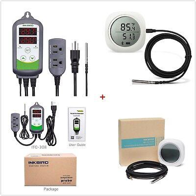 Inkbird Temp Controller Thermostat Itc-308 Bluetooth Data Logger Temp Humidity