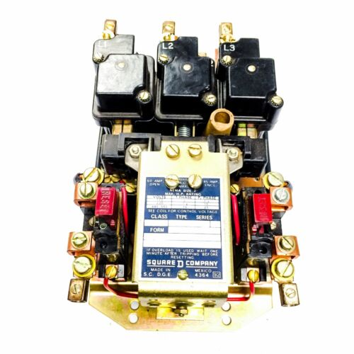 Square D Contactor, Size 2 Class 8536, 120V Coil, Series A, 4313-S190