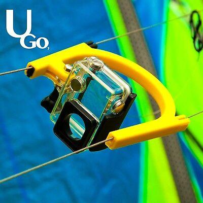 Kiteboard camera line mount, gopro line mount, U.Go line mount, kiteboarding,