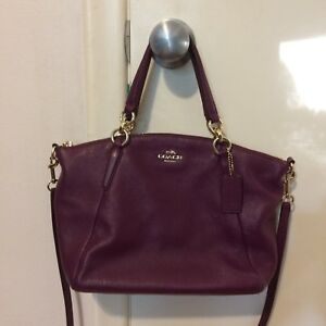 New! Coach genuine leather satchel