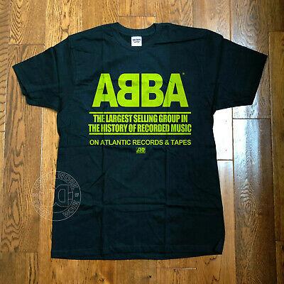 Vtg 1970's ABBA Atlantic Records t shirt S 70's concert tour LESTER BANG Reprint