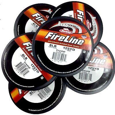 FireLine Beading Thread Crystal Smoke Black Beadsmith 6LB