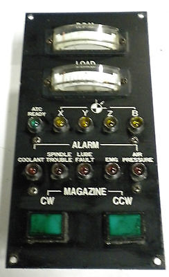 Leadwell Mcv-op Rpm Load Alarm Magazine Cwccw Gage Panel Used Warranty