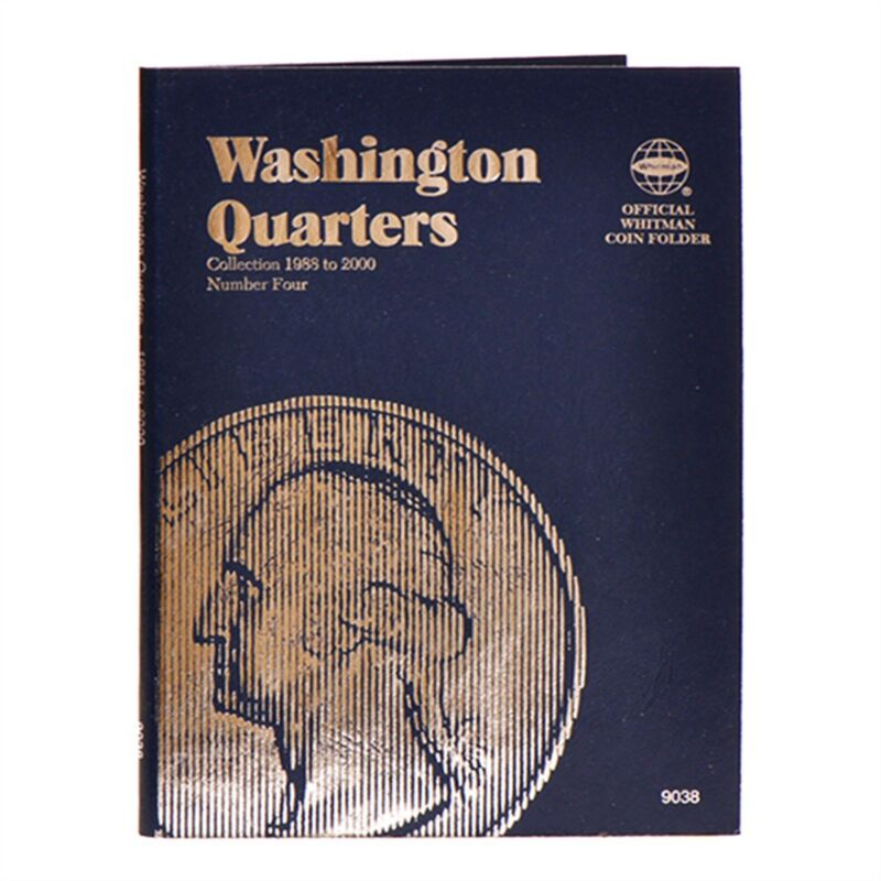 Whitman Coin Folder 9038 Washington Quarter #4  1988 - 1998  Album / Book