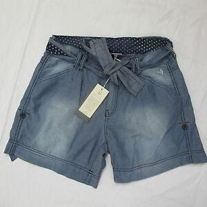 DEHA-shorts-bermudas-mujer-de-algodon-mod-D45737-col-azul-VAQUEROS-tamano-XS