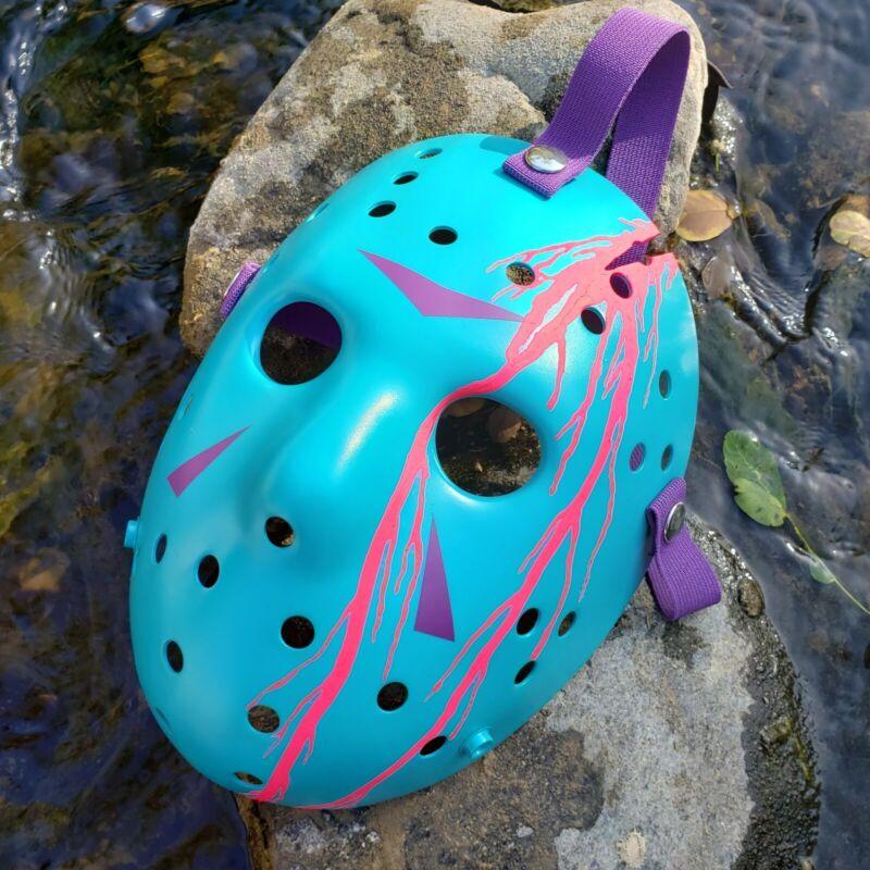 Mask Hockey Jason Friday the 13th NES 8 BIT straps purple, blood Pink neon