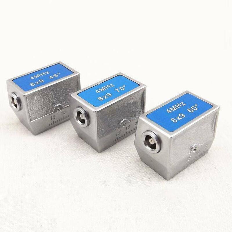 New 4MHz 8x9mm 45º+60º+70º Angle Beam Probe Transducer-Ultrasonic Flaw Detector