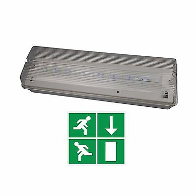 LED EMERGENCY 5 WATT BULKHEAD LIGHTING IP65 SWITCHED MAINTAINED/NON MAINTAINED