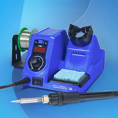 130w 110v Soldering Station Iron Kit Welding Tool Digital Led Display 2ohms Usa