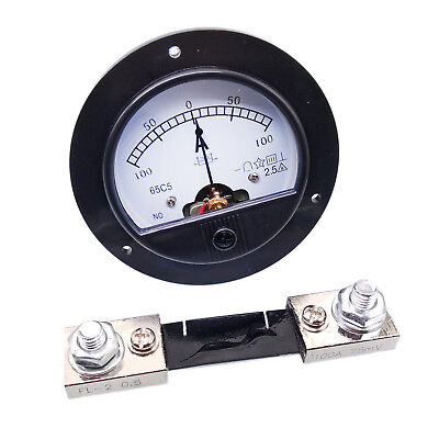 Us Stock Dc -100a 100a Analog Amp Current Needle Panel Meter Ammeter Shunt