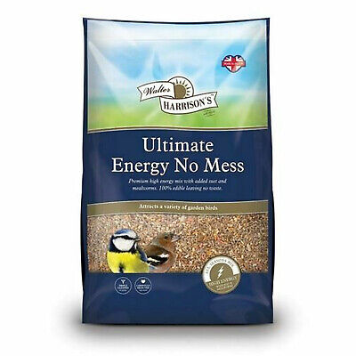 Walter Harrisons ENERGY NO MESS Seed Sunflower Heart Mix Ultimate Wild Bird Food