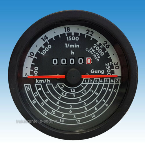 Traktormeter 8 bis 34 km/h kompatibel mit IHC rechts drehend Traktor 520 Foto 1