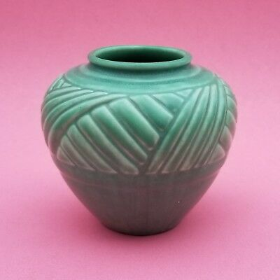 Matte Green 1935 Rookwood Vase. Shape #6443. Excellent condition.