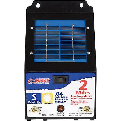 Fi-shock Esp2m-fs Solar Fence Fencer Energizer Charger 2 Mile Range Ss-440