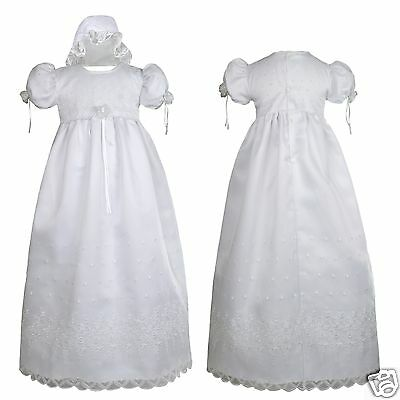 Infant & Toddler Girl Christening Baptism Dress 0 1 2 3 4...