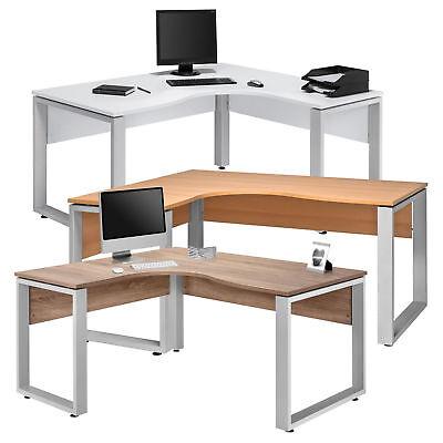 Eckcomputertisch Eckschreibtisch Bürotisch Schreibtisch Weiß So Eiche Buche Grau ()