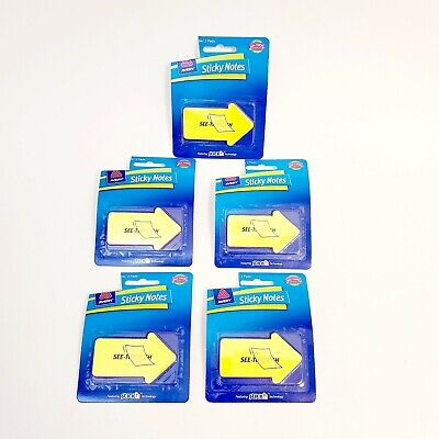 Lot Of 5 Avery See Through Arrow Sticky Notes 60 Count Each Pack Pads Bookmark