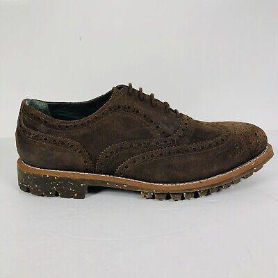 Andrea Ventura Firenze Oxford Wingtip Brogue Mens Brown Leather Shoes EU44 US11