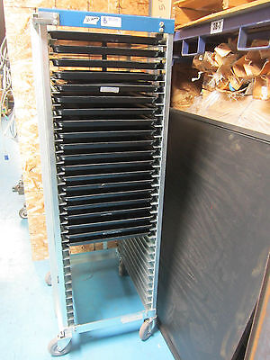 Bliss Chrome Product Tall Rolling Rack W 20 Trays