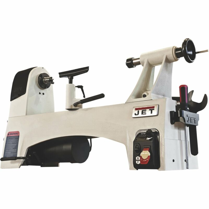JET 12in. x 21in. Variable Speed Wood Lathe, Model# JWL-1221VS