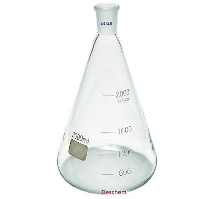 2000ml2440glass Erlenmeyer Flask2 Litreconical Flaskslaboratory Glassware