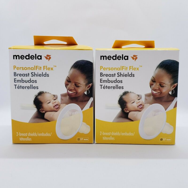 Medela PersonalFit Flex Breast Shield 2 Pack Clear Size 27mm Lot of 2